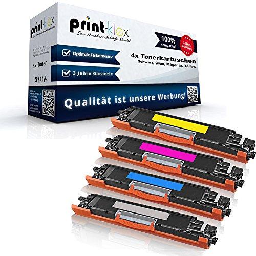 Print-Klex 4x Kompatible Tonerkartuschen für HP Color LaserJet Pro MFP M176n Color Laserjet Pro M177fw CF350 CF351 CF352 CF353 - Sparpack - Color Office Serie