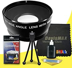 77mm Wide Angle Lens for Sony Alpha SLT-A37 with Sony 24-70 f/2.8 Carl Zeiss Lens + DavisMAX Fibercloth Deluxe Lens Bundle