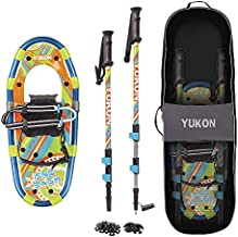 Yukon Sno-Bash Kids Snowshoe and Trekking Pole Kit - For Boys and Girls up to 100lbs