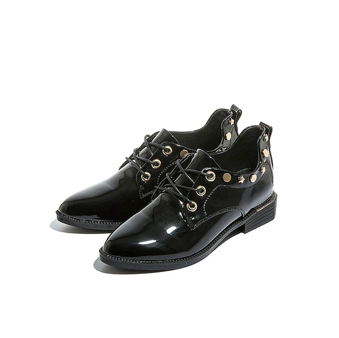 栄養感嘆符驚くべきレースアップシューズ レディース オックスフォード エナメル 大人 ローファー 疲れない パンプス ベージュ ブラック ローヒール パンプス ショートブーツ 痛くない 黒 歩きやすい 旅行 かわいい レディース靴 袴 ブーツ
