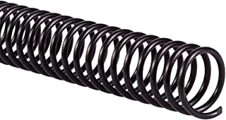 GBC Binding Spines/Spirals/Coils, 16mm, 125 Sheet Capacity, 4:1 Pitch, Color Coil, Black, 100 Pack (9665070)