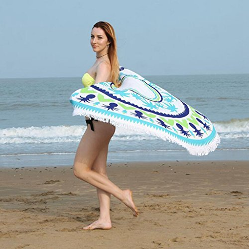 Lozse Toalla Playa Ronda Estera de Yoga, Tapiz, Ropa de Mesa Decoración