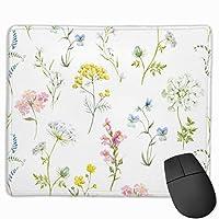 マウスパッド オフィス最適 花柄 様々 花 ゲーミング 防水性 耐久性 滑り止め 多機能 標準サイズ25cm×30cm