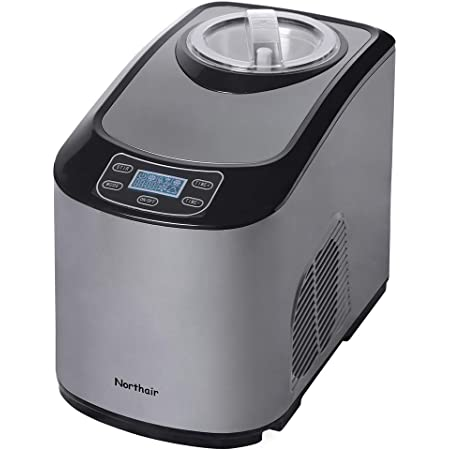 Northair Fully Automatic Ice Cream Maker with Compression Cooling, 1.4 Quart Frozen Yogurt, Sorbet Ice Cream Machine with Recipes