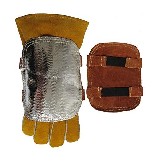 Caldera industrial para fundición de metal, protector de mano posterior, resistencia a la abrasión, resistencia a altas temperaturas, protector de mano de soldadura retardante de llama