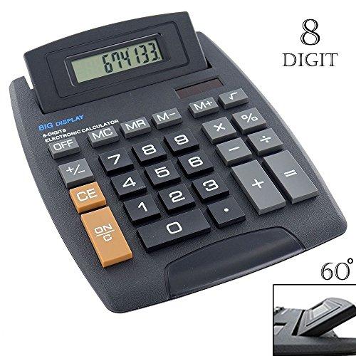 Grote rekenmachine voor kantoor, school, zwart