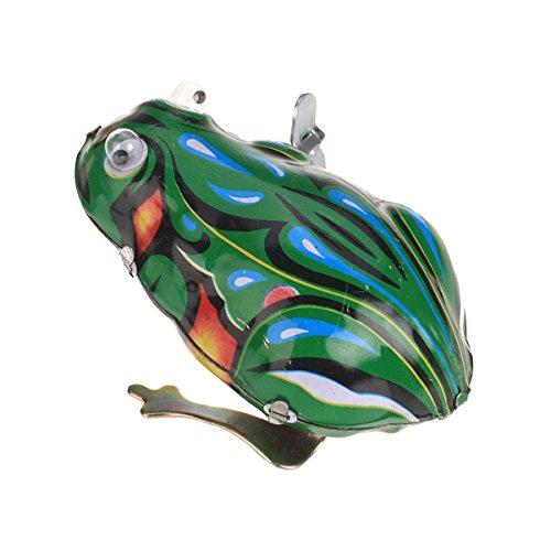 Sharplace Wind up Springender Frosch Blechspielzeug mit Schlüssel - 7,2 x 5 x 4cm