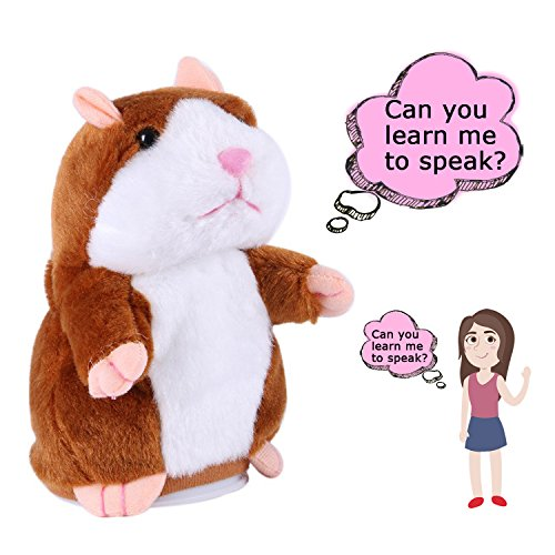 Talking Hamster Plush Toy Repeats What You Say Interactive Toys Electronic Hamster for Kids Birthday Christmas Gift