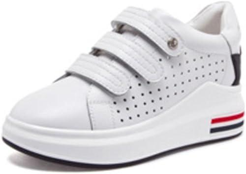 zapatos transpirables zapatos huecos para muffins zapatos casuales aumento estudiante Sra entran dentro