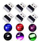 Auto USB Beleuchtung - WENTS 6PCS Auto Innenbeleuchtung Atmosphäre Licht Mini Wireless USB...
