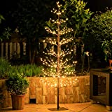 Leruckdite Brown Birch Tree Light 5 Feet 518L LED Artificial Tree Christmas Decorations Lighted Tree for Home Party Festival and Outdoor Use Warm White