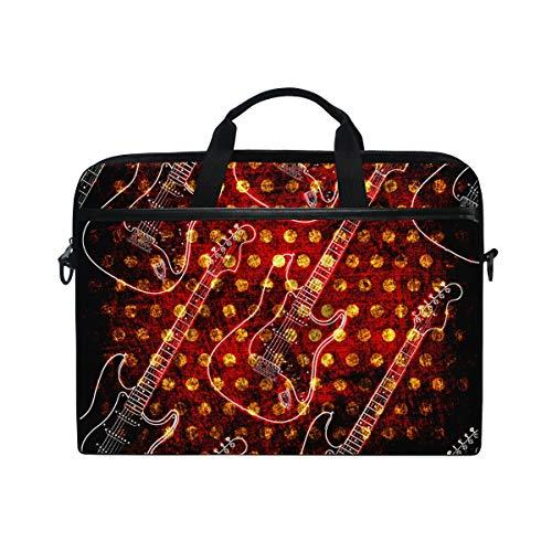 Ahomy Glowin Guitarra Eléctrica 14-14.5 Pulgadas Multifuncional Tela Impermeable Laptop Case Bag...