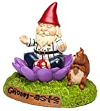 "BigMouth Inc. The Gnome-Aste Meditating Garden Gnome - Funny Weatherproof Garden Decoration, Makes a Great Gag Gift – 7"" Tall"
