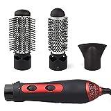 HAIRCURLER One Step Haartrockner, 3-in-1 Multifunktionaler Heißluftkamm-Trockner Glätteisen Lockenwickler mit Keramik-Anti-Verbrühungs-Negativ-Ionen-Technologie Frizz-Free für alle Haartypen