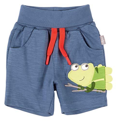 SIGIKID Baby - Jungen Shorts, kurze Sommerhose aus Bio-Baumwolle mit elastischem Umschlagbund und Eingriffstaschen, Größe 062 - 098