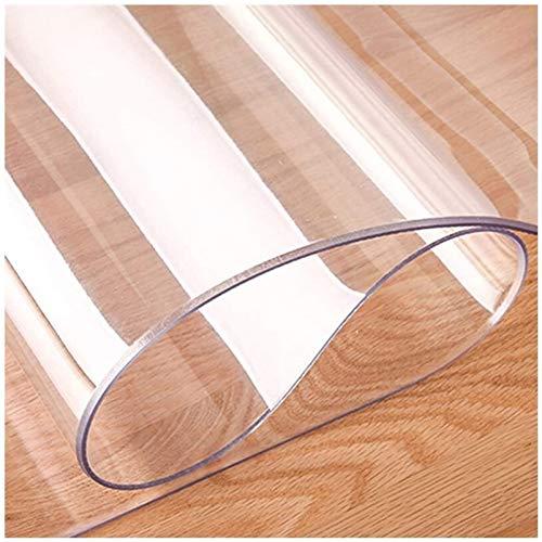 Tovaglia trasparente in PVC lavabile impermeabile, Copritavolo In Plastica Trasparente Coprivaso Impermeabile In PVC Lavabile, Tovaglia In Vetro Protettivo Per Tavolo Da Pran(Color:2mm,Size:110x240cm)