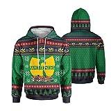WuTang Costume Apparel Wu Tang Christmas Woven Pattern All Over Printed 3D Hoodie, Zip Hoodie, Sweatshirt