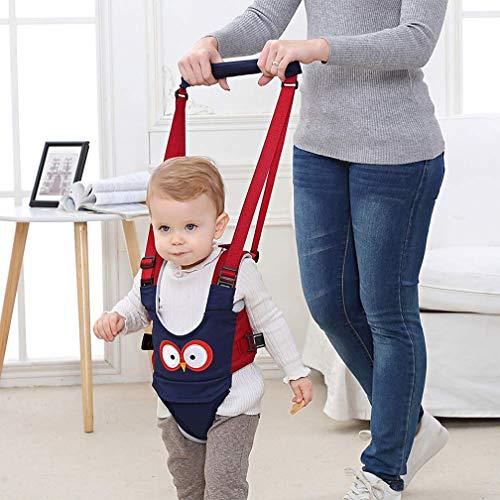 Lauflernhilfe Gehhilfe für Baby Stehen Gehen Lernen Helfer Walker Sicherheitsleinen für Kinder 8-24 Monthe, 4 in 1 Funktionale (Blau)