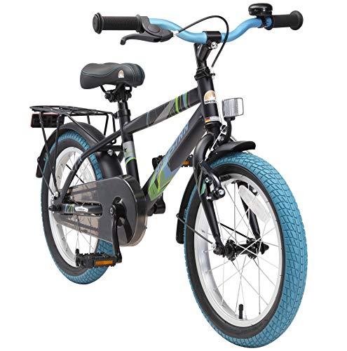 BIKESTAR Vélo Enfant pour Garcons et Filles de 4-5 Ans | Bicyclette Enfant 16 Pouces Moderne avec Freins | Noir & Blanc