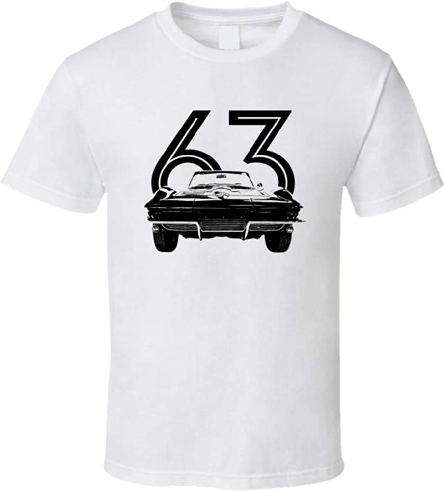 1963 Corvette Grill All stores are sold View with T New item Shirt Year White 3XL