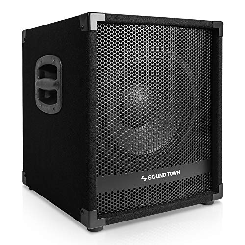"Sound Town METIS Series 1400 Watts 12"" Powered PA DJ Subwoofer with 3"" Voice Coil (METIS-12SPW)"