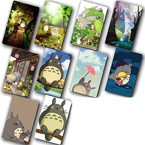 SGOT Totoro Karten Sticker, 10pcs Karte Aufkleber, wasserdichte Kristall Karten Sticker, Standardgröße PET IC Karte Aufkleber 8,6*5,4cm -T( H09)