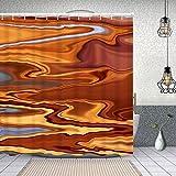 Starodec Cortina de Ducha Impermeable nácar de mármol de Color Mineral Cortinas baño con Ganchos Lavable a Máquina 62x72 Inch