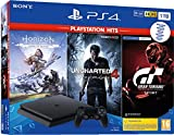 sony ps4 1tb + horizon zero dawn + uncharted 4 + gt sportt hits nero 1000 gb wi-fi