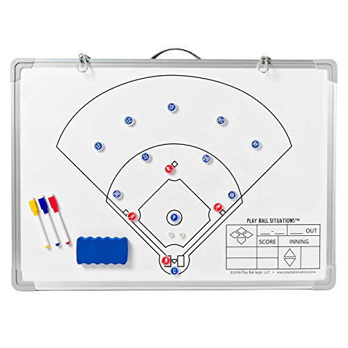 Baseball Situations Coaches Board – Don't Just Tell Them, Show Them. Play Smarter This Season. Best Magnetic Dry Erase Softball Training Tool Aids In Teaching Defensive Lineup Skills & Drills