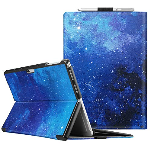 FINTIE Case for Microsoft Surface Pro 7 Compatible with Surface Pro 6 / Surface Pro 5 12.3 Inch Tablet, Hard Shell Slim Portfolio Cover Work With Type Cover Keyboard, Starry Sky