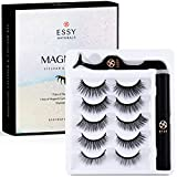 Magnetic Eyeliner and Lashes Kit, Magnetic Eyeliner for Magnetic Lashes Set, 5 Pair Reusable Lashes