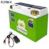 FLYPOWER LifePO4 Motorcycle Engine Start Battery 12V 350A Universal FLY9B-4 with BMS Lithium Iron Phosphate Scooter Batteries For Yamaha Suzuki Harley BMW Kawasaki