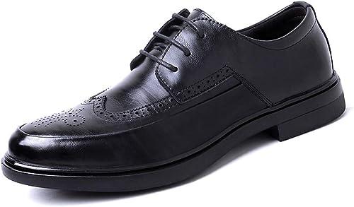 WMZMQ Herren Business Anzugschuhe, Lederschuhe Schuhe Brogue Schnürhalbschuhe Oxford Smoking Hochzeit Derby