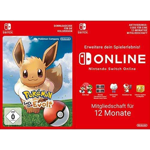 Pokémon: Let's Go, Evoli! [Switch Download Code] + Switch Online 12 Monate [Download Code]