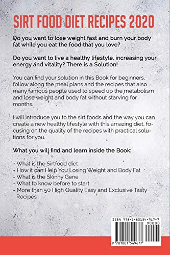 51mbJw8H3VL - Sirt Food Diet Recipes 2020: Meal Plans and Recipes for Beginners to Activate Anti-Aging Effects and Your Skinny Gene. Get Lean and Healthy with Simple and Tasty Food Plans