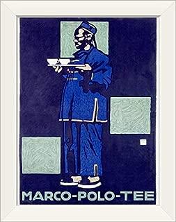CANVAS ON DEMAND Marco Polo Tea, Vintage Poster White Framed Art Print, 15