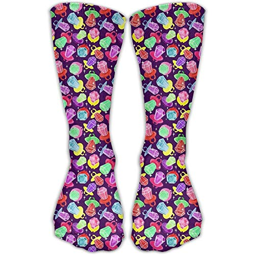 Diamond Candy Unisex Novelty Comforable Crew Socks Funny Casual Cotton Crew Socks One Size