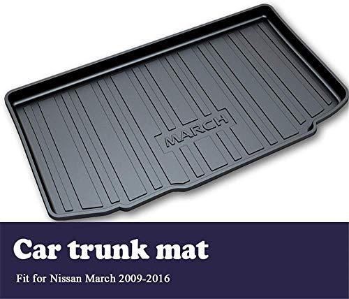 Dunny auto achter Trunk Mat Cargo Liner, voor Nissan maart K13 2016-2009 Bagage Boot Modder Lade Vloermat Tapijtplaat Accessoires