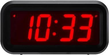 """Horloge numérique Timegyro Small Wall / étagère / bureau avec 1.2 """"grand écran à piles. 4pcs batteries peuvent garder l&#"""