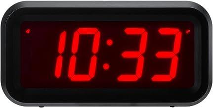 Timegyro despertador LED Reloj despertador digital con pilas Reloj de mesa portátil para dormitorio de viaje