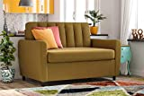 Novogratz Brittany Sleeper Sofa with Memory Foam Mattress - Twin - Mustard