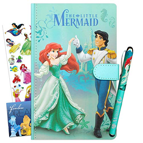 The Little Mermaid Disney Princess Journal with Pen Office Supplies Set for Girls ~ Deluxe Ariel Diary with Ballpoint Pen and Disney Princess Stickers (School Supplies)