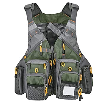 MOPHOEXII Fly Fishing Vest Pack for Fly Bass Fishing and Photography Outdoor Activities,Multi Pocket Waistcoat Adjustable Size Gifts for Men and Women