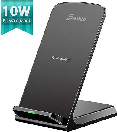 Seneo [Qi Chargeur sans Fil Rapide] Wireless Quick Charge 2.0, Chargeur à Induction pour Galaxy Note8/S8/S8plus/S7/S6 Edge Plus, iPhone8/ 8Plus, iPhoneX/XS/XR/Huawei Mate 20Pro