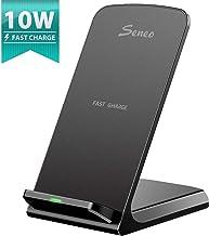 Seneo Qi Chargeur sans Fil Rapide Wireless Quick Charge 2.0, Chargeur à Induction 10W pour Galaxy S10/S9/S9+/S8/S8+/Note8/S8/S8plus/S7/S6 Edge Plus, 7.5W pour iPhone XS/XS Max/XR/X/8/8+