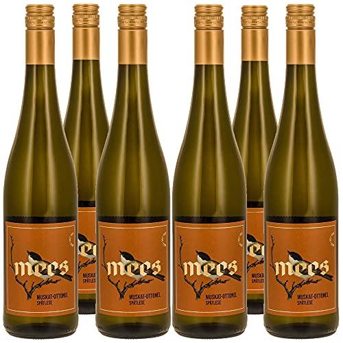 Weingut Mees MUSKAT-OTTONEL LIEBLICH SÜSS SPÄTLESE 2020 KREUZNACHER ROSENBERG Weißwein Wein süß Deutschland Nahe Paket (6 x 750 ml) 100% Muskat-Ottonel