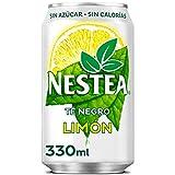 Nestea Té Negro Limón Sin Azúcar - Refresco de té sin gas - lata 330 ml
