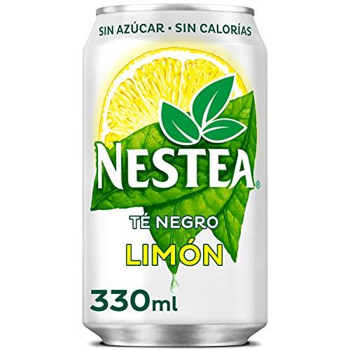 Nestea Té Negro Limón sin Azúcar Refresco de Té sin Gas Lata, 330ml