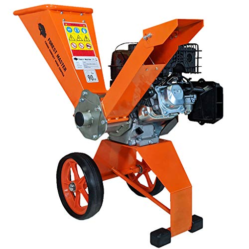 Forest Master - Broyeur à bois compact à essence 6 ch, 208 cc, 4 temps, puissant, 50 mm de diamètre, portable, léger et bien équilibré, rangement facile, 780 x 480 x 910