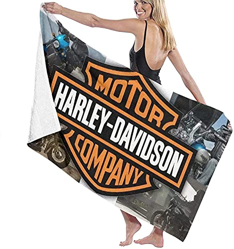 Ha-rley D-avi-dson - Toalla de playa para moto, multiusos, de secado rápido, práctica, ligera y ahorra espacio, toalla de viaje (moto 3, 90 cm x 180 cm)
